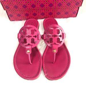 {Tory Burch} Dark Fuchsia Miller Sandals
